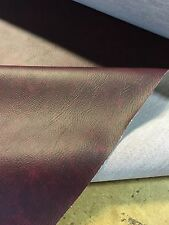 Heavy Grain Wine Red Car Upholstery Vinyl Leather Look Material