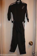 San Antonio Spurs Toddler NBA 2-Stripe Top and Track Pants - Black/White/Silver