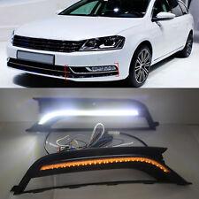 2pcs Turn Signal LED Daytime Running Light DRL Fog Lamp for VW Passat 2011-2015