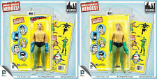 "Green Gloves Exclusive ""FRANKEN-AQUAMAN"" Mego Retro Yellow Overstock Card"