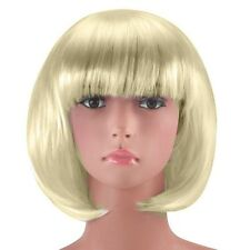 Blonde Sexy Short Bob Cut Fancy Dress Wigs Play Costume Wig Party Stag Do Adults