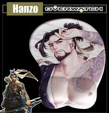 Game Overwatch OW Hanzo 3D Buttock Silicone Mouse pad Man Gaming Play Mat