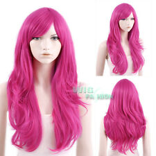 65cm Heat Resistant Long Wavy Hot Pink Fashion Hair Wig