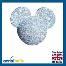 Silver Glitter Disney Mickey Mouse Minnie Mouse Car Aerial Ball Antenna Topper