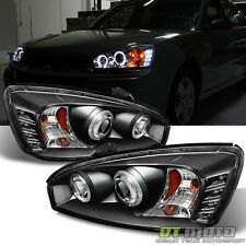 Black 2004-2007 Chevy Malibu Halo Projector LED Headlights Headlamps 04 05 06 07