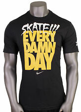 NIKE SB Skate Every Damn Day Dri-FIT T-Shirt sz 2XL XX-Large Blk Yellow Supreme