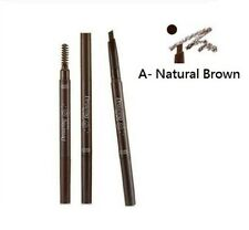 New Etude House Two-Ended Eyebrow Liner / Brow Pencil With Brush -Natural Brown
