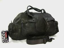 NEW Ralph Lauren Black Label Denim Distressed Leather Carry-On Duffle Gym Bag