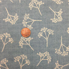 COW PARSLEY DENIM BLUE HEARTWOOD MAKOWER 100% COTTON FABRIC FAT QUARTER