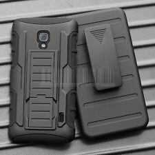 LG Optimus F6 D500 Rugged Case Cover Armor Impact Skin Holster Protector Swivel