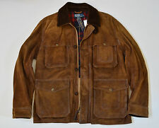 Polo Ralph Lauren Men's Bleecker Distressed Waxed Leather Heavy Jacket Coat XL