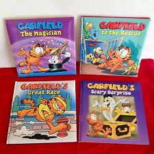 Full Set Garfield books: Magician, To The Rescue, Great Race & Scary Surprise