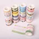 5x New Design 1.5cm×10M DIY paper Sticky Adhesive Sticker Decorative Washi Tape