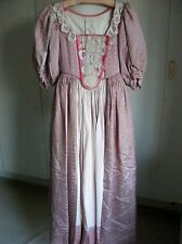 Abito VINTAGE COSTUME TEATRALE periodo Georgiano overdress & Gonna Rosa Scuro S