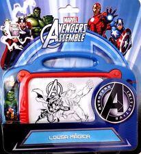 Boys Kids Marvel Avengers Magnetic Scribbler Etch A Sketch Doodle Drawing Board