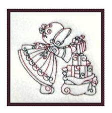 1138:  Machine Embroidery Designs - Christmas Sunbonnets