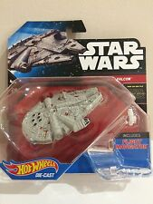 STAR WARS - HOT WHEELS DIE CAST THE MILLENIUM FALCON with FLIGHT NAVIGATOR