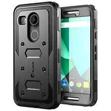 Nexus 5X Case Cover Built-in Screen Protector Hard Shockproof Bumper Black New .
