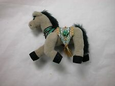 "World of Miniature Bears 3"" Velvet Tan/Green Saddle Horse #5820TG Collectibles"