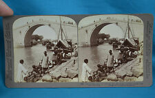 Chinese Stereoview 1900 Woo Men Bridge Grand Imperial Canal Suzhou 苏州 China 中国
