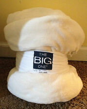 New SOFT Big one Super Plush Oversized IVORY WHITE Throw Blanket 5' x 6' Warm