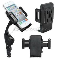 Dual USB Car Charger Holder Support Mount Stand For iPhone 5 4S 4 Samsung i9500