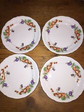 Royal Kent China Fruit Garland Dessert Plates Excellent Condition