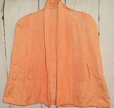 Vintage Quilted Light Peach Cape/Capelet/Cloak/Shawl Womens Embroidered