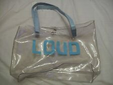 clear handbag blue LOUD and handle ideal for the beach (JJK567.22)