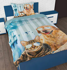 Duvet Cover & Pillow Case Bedding Set Microfiber  Kids Cool Pets from Sleeptime