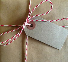 10m White,RED Bakers Butchers Twine Shabby Chic Parcel String BUY 2 GET 1 FREE..