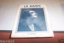 REVUE LA RAMPE N° 264 Mlle DAVELLI 10 12 1921