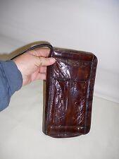 Vintage Real Leather Clutch Handbag Wallet Large