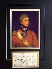 2nd EARL STRADBROKE - BRITISH ARMY OFFICER AT QUATRE BRAS - SIGNED COLOR DISPLA