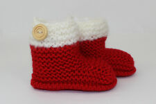 KNITTING INSTRUCTIONS- CHUNKY BABY CHRISTMAS BOOTIES BOOTS KNITTING PATTERN