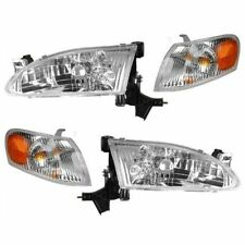 1998 1999 2000 TOYOTA COROLLA HEADLIGHTS AND CORNER LAMP LIGHTS COMBO