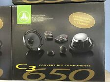 "JL AUDIO C3-650 2 WAY 6.5"" INCH CONVERTIBLE CAR SPEAKERS COMPONENT SYSTEM C3650"