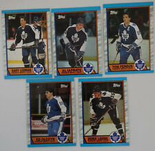 1989-90 Topps Toronto Maple Leafs Team Set of 5 Hockey Cards