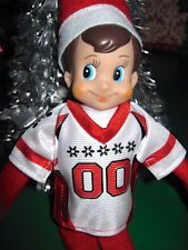 New Elf on the Shelf Game Day Jersey Red & White Claus Couture Football Clothes