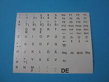 Tastaturaufkleber für Notebook Deutsch QWERTZ Grau für 86 Tasten DE PÜÖÄ