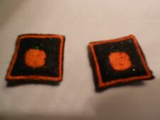 ORANGE PUMPKINS  FOR HALLOWEEN MINI PILLOWS FOR YOUR MINIATURE DOLL HOUSE