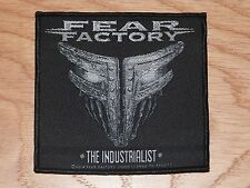 FEAR FACTORY - THE INDUSTRIALIST (NEW) SEW ON W-PATCH OFFICIAL BAND MERCHANDISE