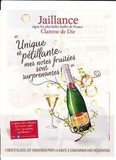 """Jaillance """" Clairette de Die"""" Pub de Magazine Magazine advertisement.2013 paper"""