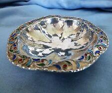 Russian Silver & Enamel Pin Tray