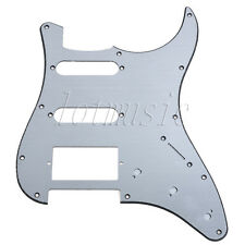 Brushed Aluminum Electric Guitar Pickguard SSH Pickup 11Hole  For Fender