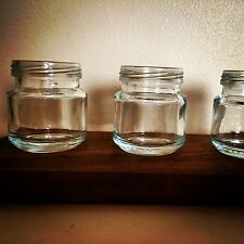 vintage Jam jar Shot Glass 30ml Mason, Kilner style moonshine Shot Glass X3