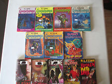 R.L. STINE LOT OF 12 PAPERBACKS GOOSEBUMPS, FEAR STREET, DANGEROUS GIRLS RL PB