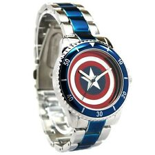 Official Marvel Comics Captain America Avengers Wristwatch - Boxed Watch Shield