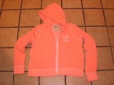 HOLLISTER-Juniors Neon Orange Hooded Sweat Top-Size Med