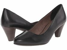 TAMARIS PIMELA BLACK LEATHER PUMPS NIB $99.99 40 8.5 M 1-22400-26
